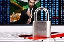 Casino images with a big padlock