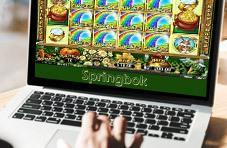 a 6-reel Springbok slot game on the screen