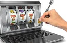 Player with Springbok casino on his screen putting money into a slot on the screen like a vending machine