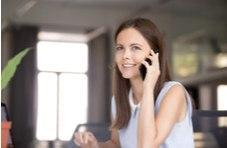 Calling the customer service office on your smartphone