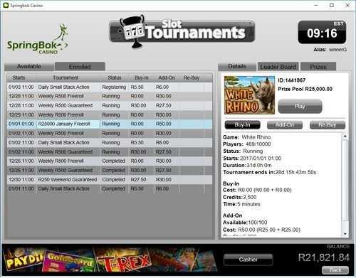 Freerolls and Slots Tournaments