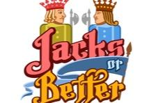 a Jacks or Better logo showing an illustration of two playing card jacks looking at each other and Jacks or Better written below