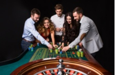 people happily playing roulette