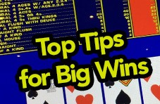 An image of a video poker paytable with 'Top Tips for Big Wins' emblazoned over it