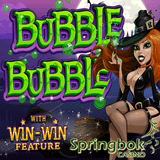 South African Players can Get R2500 Rands Bonus and 100 Free Spins on RTG's New Bubble Bubble Halloween Slot