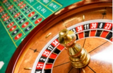 roulette wheel and betting table