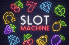 slot machine with a volatility scale