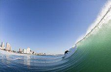 Surfing in Durban