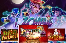 logos of the four top online casino games for 2018