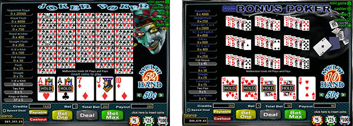 tips playing online video poker
